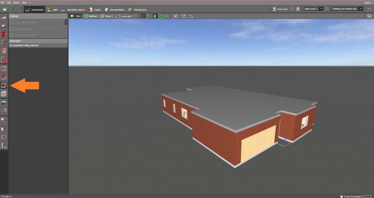 ترسییم سقف کاذب در نرم افزار دیالوکس